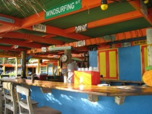 the hangout bar at jibe city where to eat lunch in Bonaire