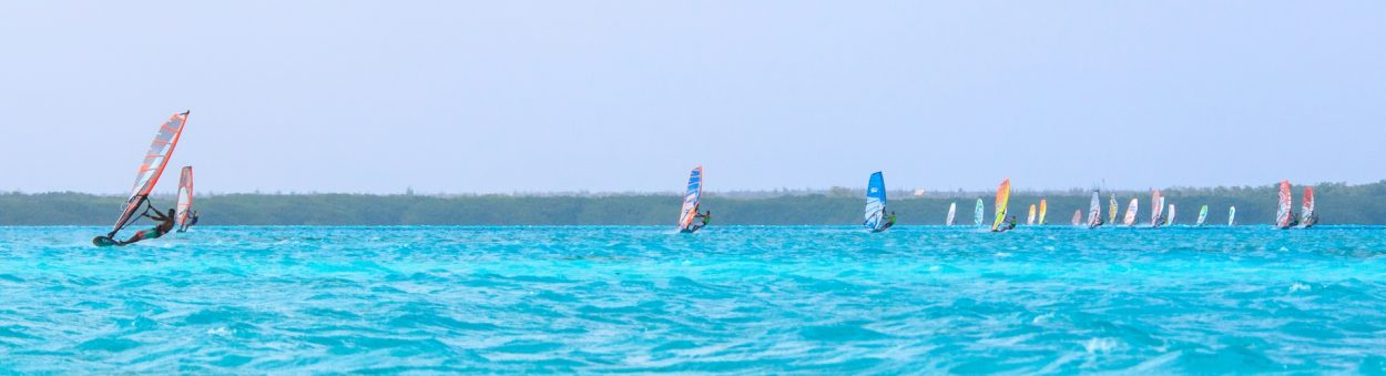 windsurf race on Lac Bay Bonaire 2016 DefiWind defi wind bonaire
