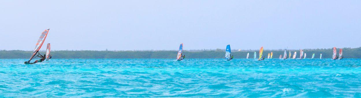 windsurf race on Lac Bay Bonaire 2016 DefiWind defi wind bonaire