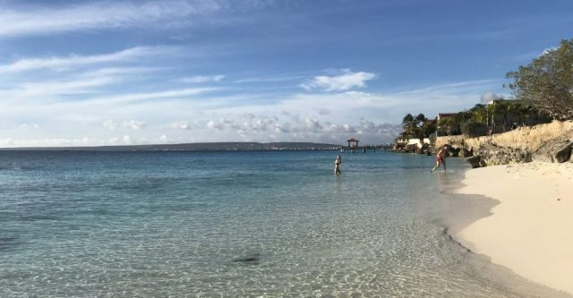 the perfect beach for the day you arrive on Bonaire
