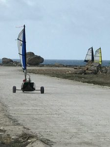 anyone can try land sailing on bonaire