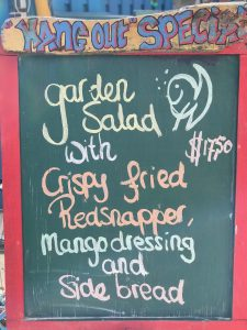 menu at jibe city hangout bar