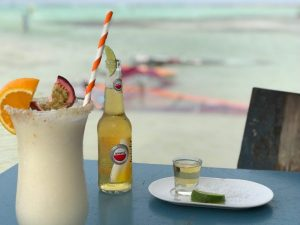 jibe city hangout bar pina colada and beer
