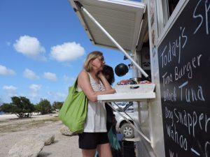 ordering at kite city food truck bonaire