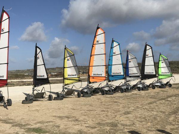 land sailing Bonaire blo karts