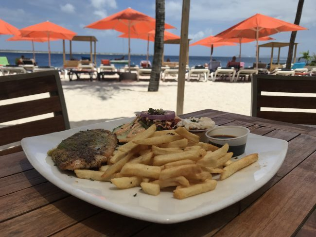 lunch on the beach at spice