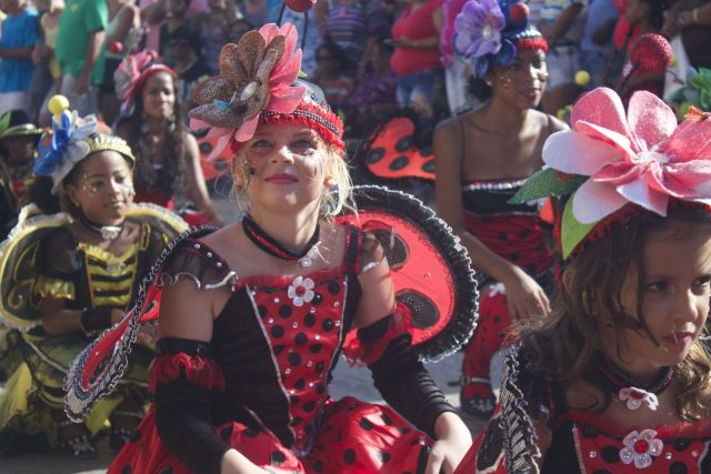 kid's parade at carnival bonaire